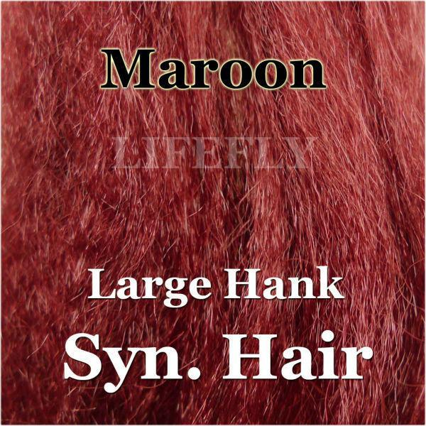 Maroon Color / Large Hank Of Synthetic Hair, Hair, Syn. Fibre, Fly Tying, Jig,-Fly Tying Materials-Bargain Bait Box-Bargain Bait Box