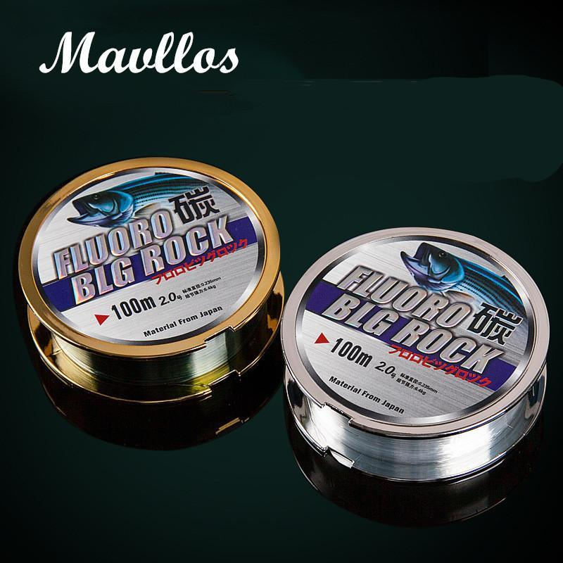 Mavllos 100M Nylon Fishing Line 100% Surface Fluorocarbon Coating 2-50Lb Impot-Mavllos Fishing Tackle Store-White-0.4-Bargain Bait Box