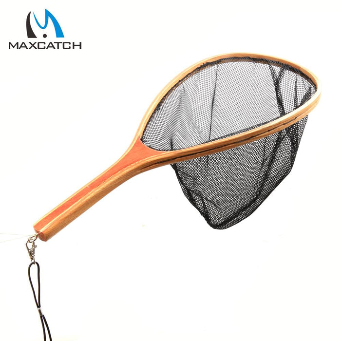 Maxcatch Nylon Landing Net Wooden Handle Fishing Net-Fishing Nets-Bargain Bait Box-Bargain Bait Box