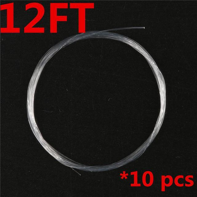 Maximumcatch 10 Pieces Tapered Leader Fly Fishing Line 9Ft / 12Ft / 15Ft 0X-7X-MaxCatch Outdoor-12ft-0.1-Bargain Bait Box
