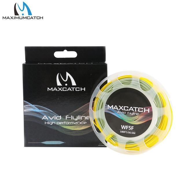 Maximumcatch 100Ft 3/4/5/6/7/8Wt Avid Weight Forward Fly Line Double Color-MAXIMUMCATCH Fishing Solution Store-Gold Moss-3WT-Bargain Bait Box