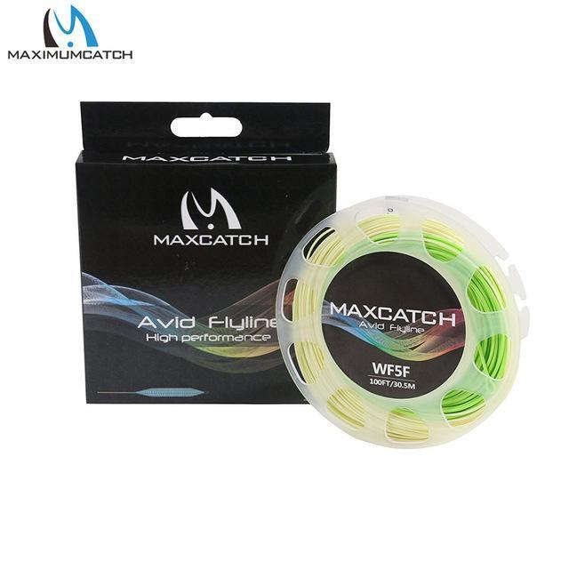 Maximumcatch 100Ft 3/4/5/6/7/8Wt Avid Weight Forward Fly Line Double Color-MAXIMUMCATCH Fishing Solution Store-Ivory Chartreuse-3WT-Bargain Bait Box