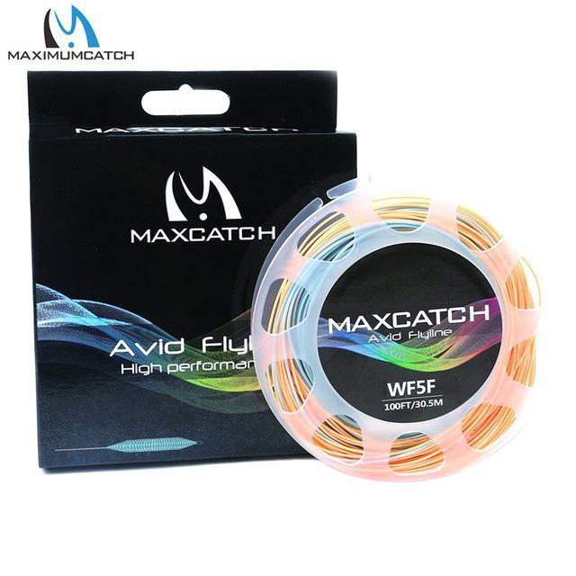 Maximumcatch 100Ft 3/4/5/6/7/8Wt Avid Weight Forward Fly Line Double Color-MAXIMUMCATCH Fishing Solution Store-Power Blue Orange-3WT-Bargain Bait Box