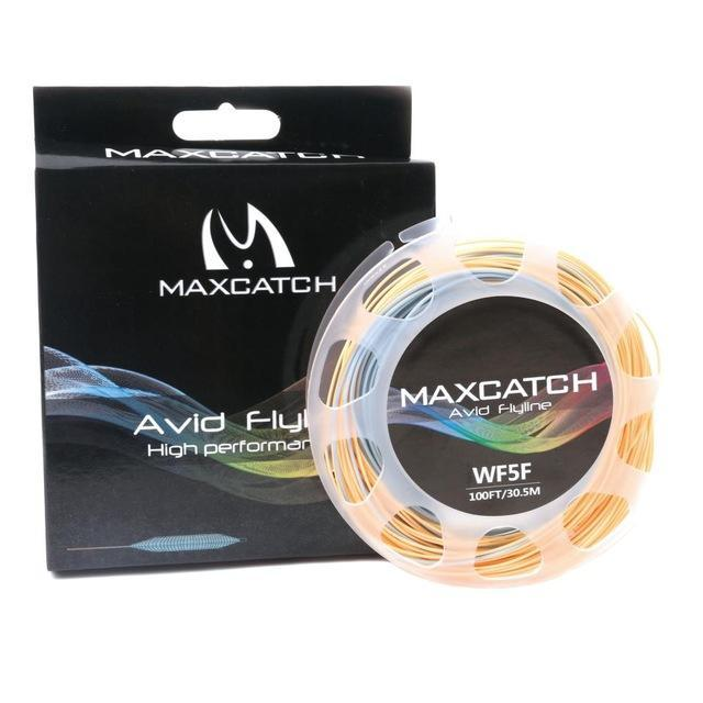Maximumcatch 100Ft Double Color Weight Forward Floating Fly Line With Two Welded-MAXIMUMCATCH Official Store-Color 01 with Box-3.0-Bargain Bait Box