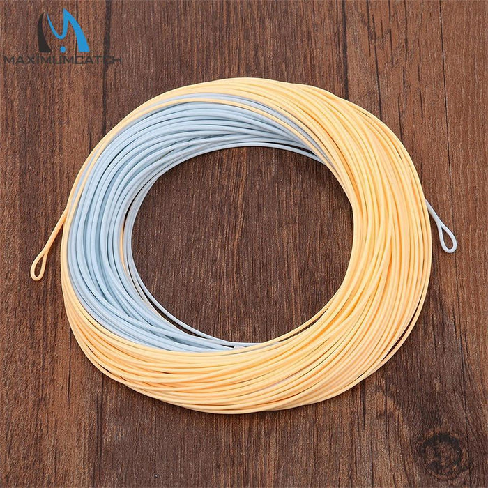 Maximumcatch 100Ft Double Color Weight Forward Floating Fly Line With Two Welded-MAXIMUMCATCH Official Store-Color 02-3.0-Bargain Bait Box