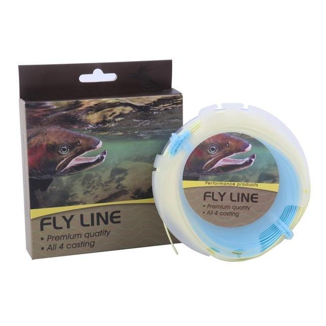 Maximumcatch 100Ft Double Color Weight Forward Floating Fly Line With Two Welded-MAXIMUMCATCH Official Store-Color 04 with Box-3.0-Bargain Bait Box