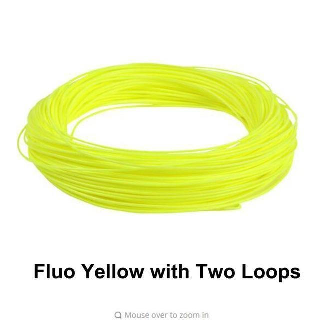 Maximumcatch 100Ft Weight Forward Floating Fly Fishing Line-MAXIMUMCATCH Official Store-FluoYellow with Loop-WF2F-Bargain Bait Box