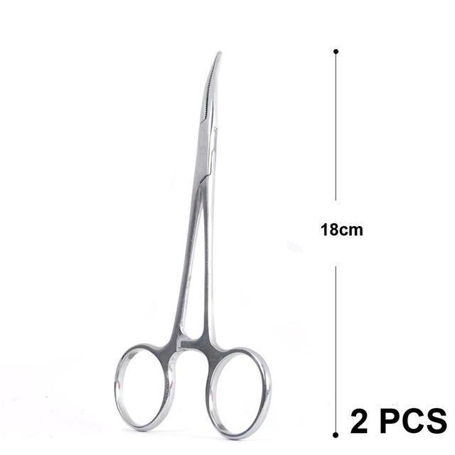 Maximumcatch 14Cm 16Cm 18Cm Fishing Accessory Curved Hemostats Fly Fishing-MAXIMUMCATCH Official Store-18cm 2pc-Bargain Bait Box