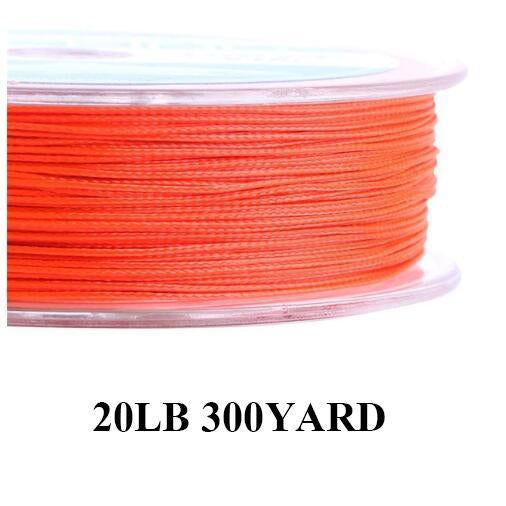 Maximumcatch 20/30Lb 100/300Yards Braided Backing Line Multi Color Fly Fishing-MAXIMUMCATCH Fishing Solution Store-Orange14-Bargain Bait Box