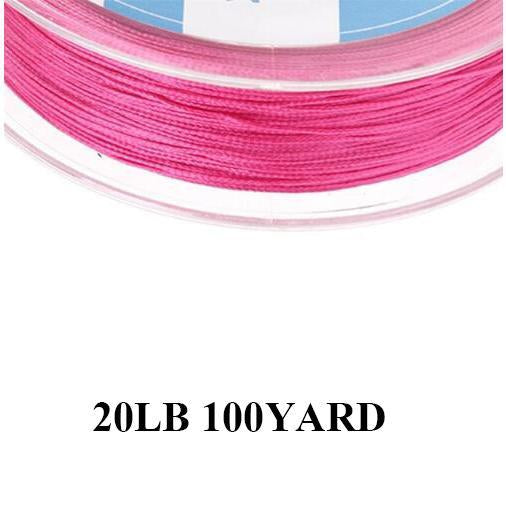 Maximumcatch 20/30Lb 100/300Yards Braided Backing Line Multi Color Fly Fishing-MAXIMUMCATCH Fishing Solution Store-Pink-Bargain Bait Box