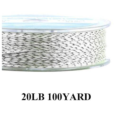 Maximumcatch 20/30Lb 100/300Yards Braided Backing Line Multi Color Fly Fishing-MAXIMUMCATCH Fishing Solution Store-White and Black-Bargain Bait Box