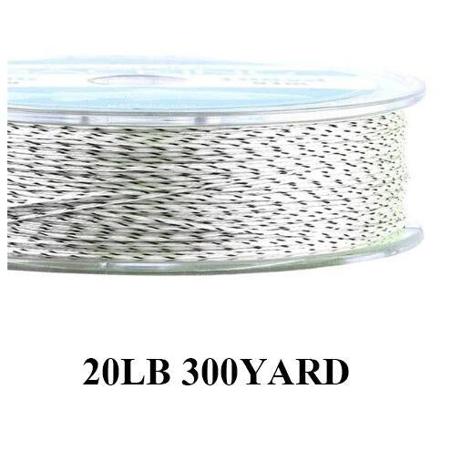 Maximumcatch 20/30Lb 100/300Yards Braided Backing Line Multi Color Fly Fishing-MAXIMUMCATCH Fishing Solution Store-White and Black6-Bargain Bait Box