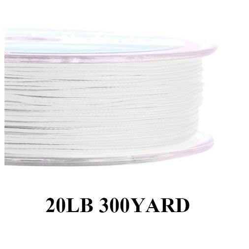 Maximumcatch 20/30Lb 100/300Yards Braided Backing Line Multi Color Fly Fishing-MAXIMUMCATCH Fishing Solution Store-White18-Bargain Bait Box