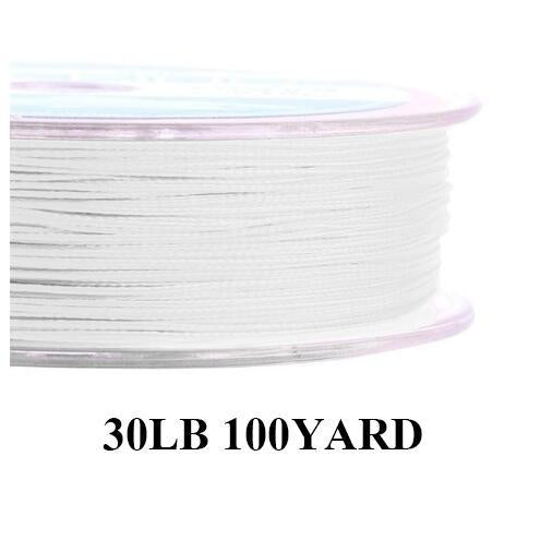 Maximumcatch 20/30Lb 100/300Yards Braided Backing Line Multi Color Fly Fishing-MAXIMUMCATCH Fishing Solution Store-White19-Bargain Bait Box