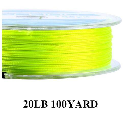Maximumcatch 20/30Lb 100/300Yards Braided Backing Line Multi Color Fly Fishing-MAXIMUMCATCH Fishing Solution Store-Yellow-Bargain Bait Box