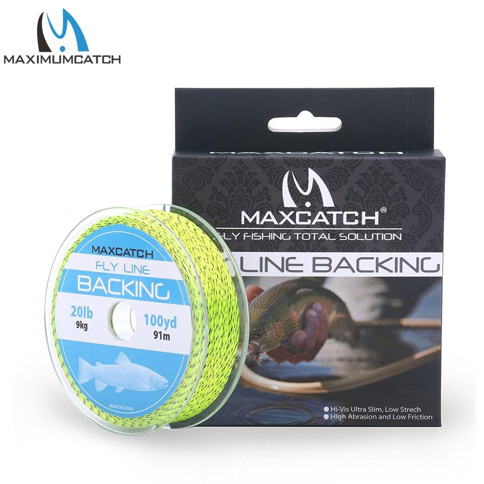 Maximumcatch 20/30Lb 100/300Yards Braided Backing Line Multi Color Fly Fishing-MAXIMUMCATCH Fishing Solution Store-Yellow and Black-Bargain Bait Box
