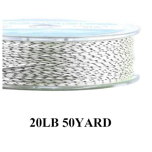 Maximumcatch 20Lb 50Yards Backing Line Multi Color Braided Fly Fishing Line-MAXIMUMCATCH Fishing Solution Store-White and Black-Bargain Bait Box
