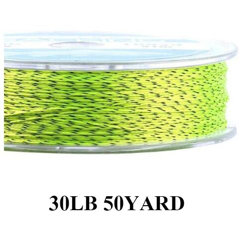 Maximumcatch 20Lb 50Yards Backing Line Multi Color Braided Fly Fishing Line-MAXIMUMCATCH Fishing Solution Store-Yellow and Black2-Bargain Bait Box