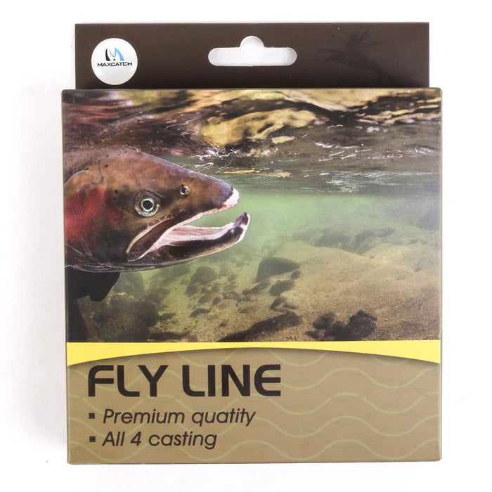 Maximumcatch 90Ft Trout Fly Fishing Line With Welded Loops 4/5/6Wt Beige/Sage-MAXIMUMCATCH Fishing Solution Store-White-Bargain Bait Box