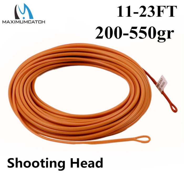 Maximumcatch Floating Fly Line Shooting Head 17-25Ft 200-650Gr Fly Line With 2-MaxCatch Outdoor-17FT 200gr-Bargain Bait Box