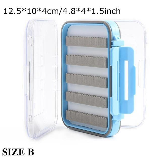 Maximumcatch Fly Box Waterproof Slit Foam High Density 4 Size Fly Fishing Tackle-MAXIMUMCATCH Official Store-SIZE B-Bargain Bait Box