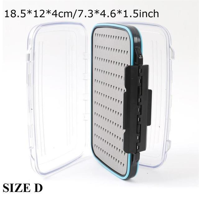 Maximumcatch Fly Box Waterproof Slit Foam High Density 4 Size Fly Fishing Tackle-MAXIMUMCATCH Official Store-SIZE D18-Bargain Bait Box