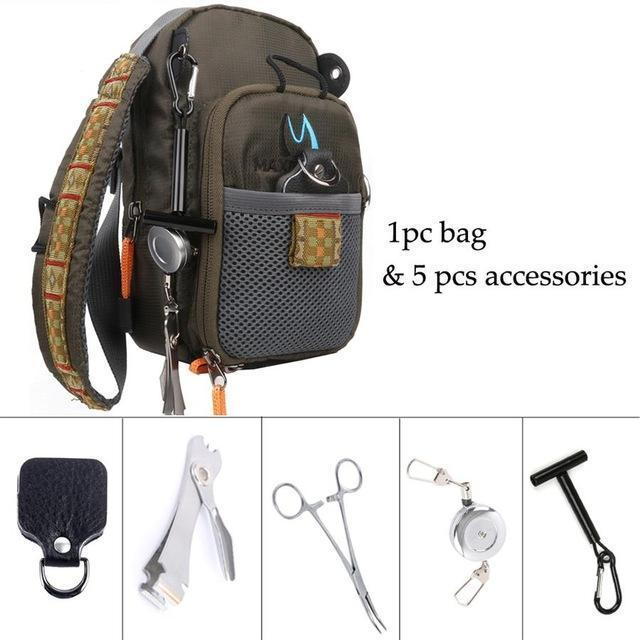 Maximumcatch Fly Fishing Bag Fishing Chest Pack Fly Bag With Five Fishing Tool-MAXIMUMCATCH Official Store-1 bag and 5 tools-Bargain Bait Box