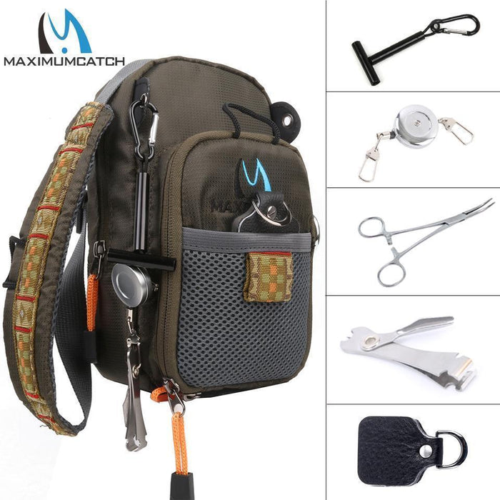 Maximumcatch Fly Fishing Bag Fishing Chest Pack Fly Bag With Five Fishing Tool-MAXIMUMCATCH Official Store-1pc bag-Bargain Bait Box
