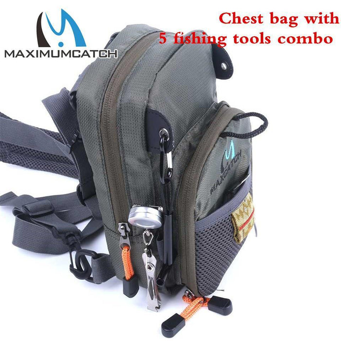Maximumcatch Fly Fishing Bag Fishing Chest Pack Fly Bag With Other Fishing-MaxCatch Outdoor-Without Tools-Bargain Bait Box