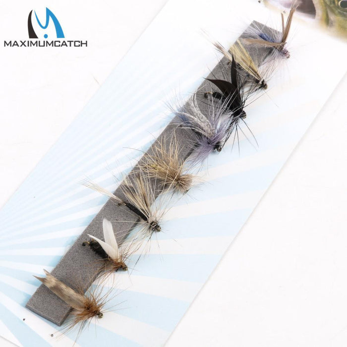 Maximumcatch Fly Fishing Dry Flies #14 Assortment 8 Patterns Deluxe Kit-MAXIMUMCATCH Fishing Solution Store-Bargain Bait Box