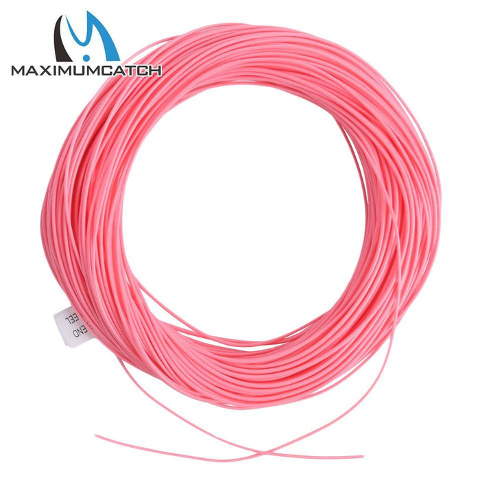 Maximumcatch Fly Fishing Line Wf5F/6F Weight Forward Floating Pink Line For-MaxCatch Outdoor-5.0-Bargain Bait Box