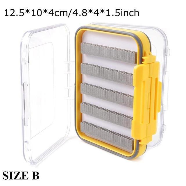 Maximumcatch Waterproof Fly Fishing Box With Slit Foam Fish Lure Hook Bait Fly-MAXIMUMCATCH Official Store-SIZE B4-Bargain Bait Box