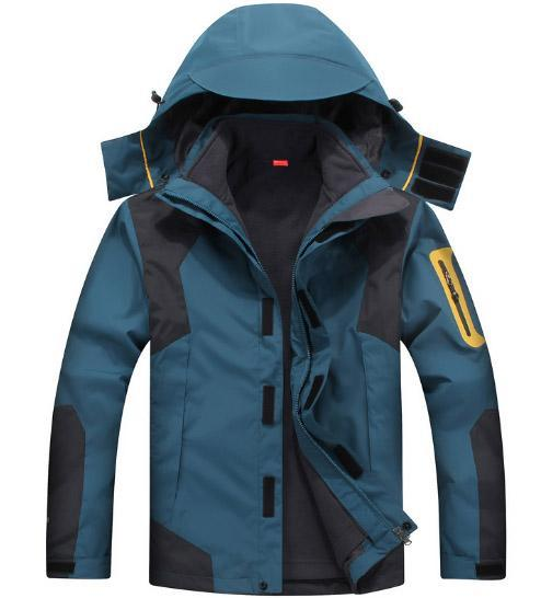Mazerout Man Skiing 3 In 1 Waterproof Jackets Fishing Winter Windproof Outdoor-Stalkers Outdoor Store-Jeanblue-XL-Bargain Bait Box