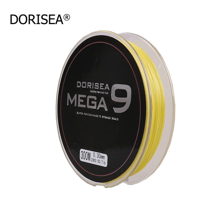 Mega 9 Strands 300M Braided Wire Fishing Line Japan Material Super Pe Line-AGEPOCH Fishing Tackle Co., Ltd.-Yellow-0.8-Bargain Bait Box