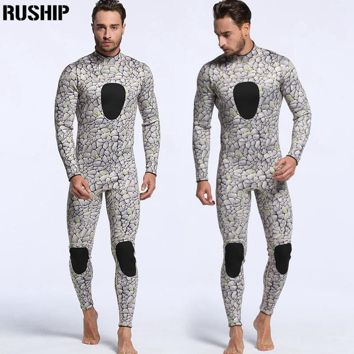 Men 3Mm Neoprene Diving Suits Warm Keeping Patchwork Rash Guards Swimwear Long-Spearfishing-Bargain Bait Box-MY038-S-Bargain Bait Box