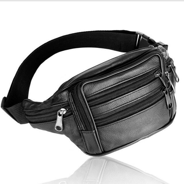 Men Bags Genuine Leather Bag Men Waist Pack Waist Bag Fanny Pack Waist Belt-Bags-Bargain Bait Box-Bargain Bait Box