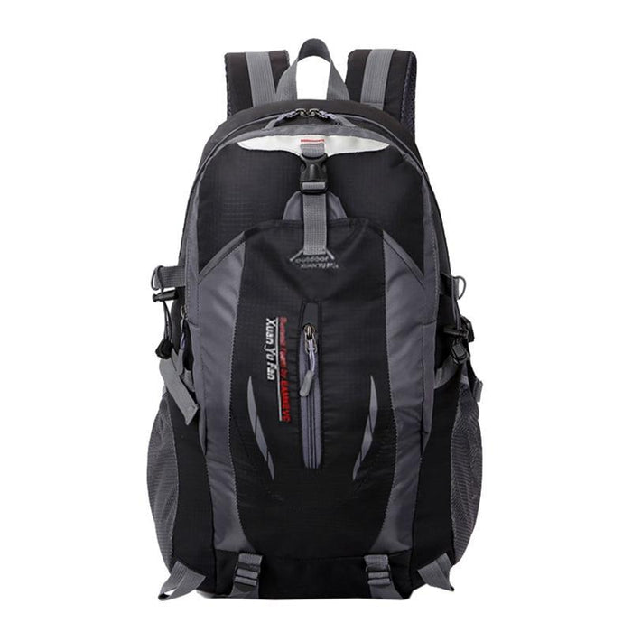 Men Nylon Travel Backpack Large Capacity Camping Casual Backpack 15 Inch-Backpacks-TakeCharm Official Store-Black-China-Bargain Bait Box