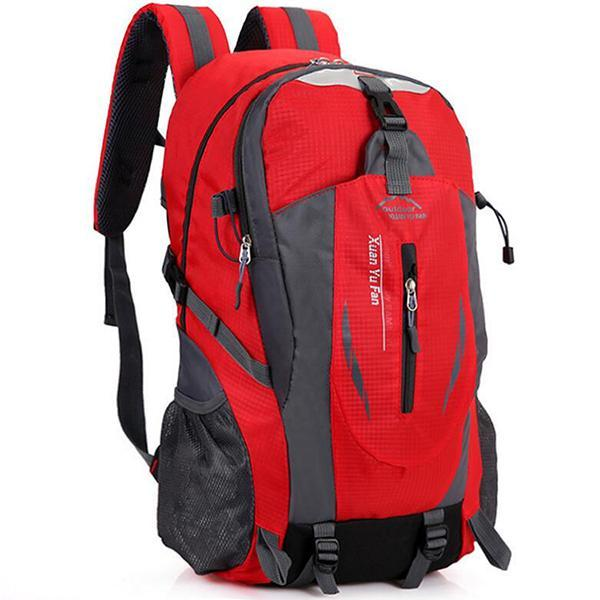 Men Nylon Travel Backpack Large Capacity Camping Casual Backpack 15 Inch-Backpacks-TakeCharm Official Store-Red-China-Bargain Bait Box