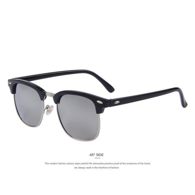 Men Retro Rivet Polarized Sunglasses Classic Unisex Polaroid Sunglasses Uv400-Polarized Sunglasses-Bargain Bait Box-C06 Silver Mirror-Bargain Bait Box