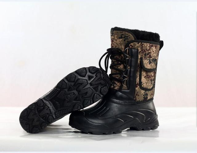 Men S Waterproof Ice Fishing Shoes Snow Boot Flat Ski Ankle Thermal Thicken Camo-Boots-Bargain Bait Box-as photo-9.5-Bargain Bait Box