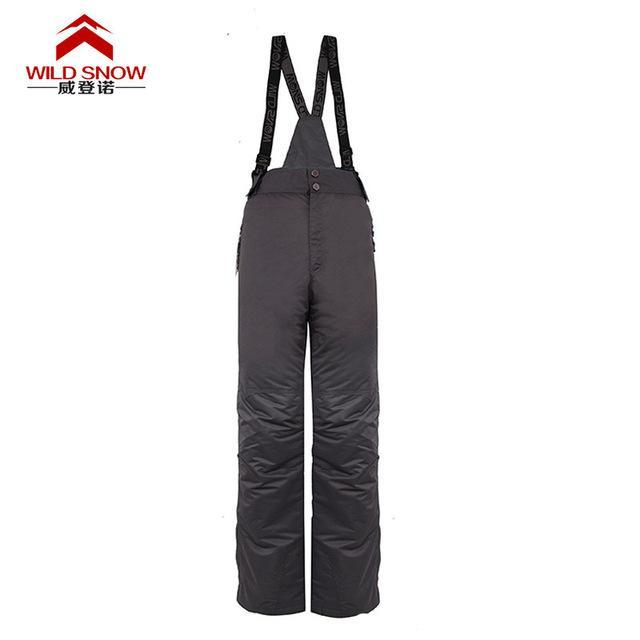 Men Skiing Pants S Warm Snowboard Trouser Male Waterproof Snow Trousers-Snow Pants-Bargain Bait Box-gray-XL-Bargain Bait Box