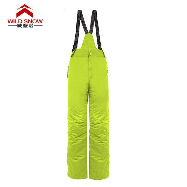 Men Skiing Pants S Warm Snowboard Trouser Male Waterproof Snow Trousers-Snow Pants-Bargain Bait Box-green-XL-Bargain Bait Box