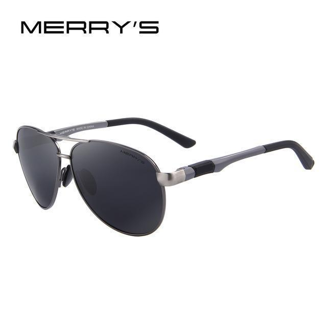 Men Sunglasses Hd Polarized Glasses Men Polarized Sunglasses With Al Case-Polarized Sunglasses-Bargain Bait Box-C02 Gray Black-Bargain Bait Box