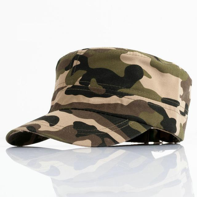 Men Tractical Flat Cap Unisex Camo Printed Hats Adjustable Patrol Casquette Flat-Hats-Bargain Bait Box-YY10402-Bargain Bait Box