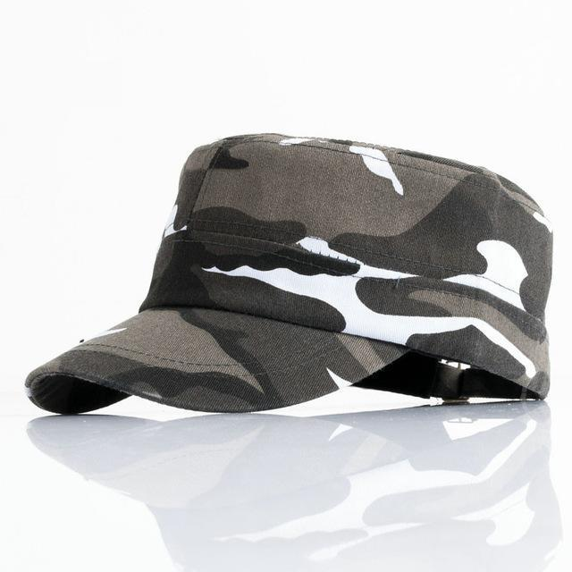 Men Tractical Flat Cap Unisex Camo Printed Hats Adjustable Patrol Casquette Flat-Hats-Bargain Bait Box-YY10403-Bargain Bait Box