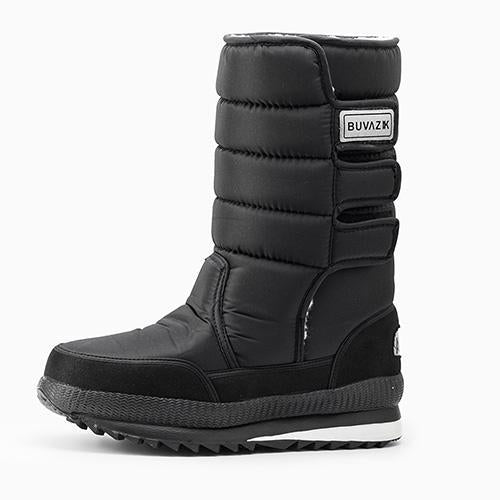 Men Waterproof Hunting Boots Thickening Thermal Snow Boots Warm Fur Shoes-Boots-Bargain Bait Box-Black-7-Bargain Bait Box