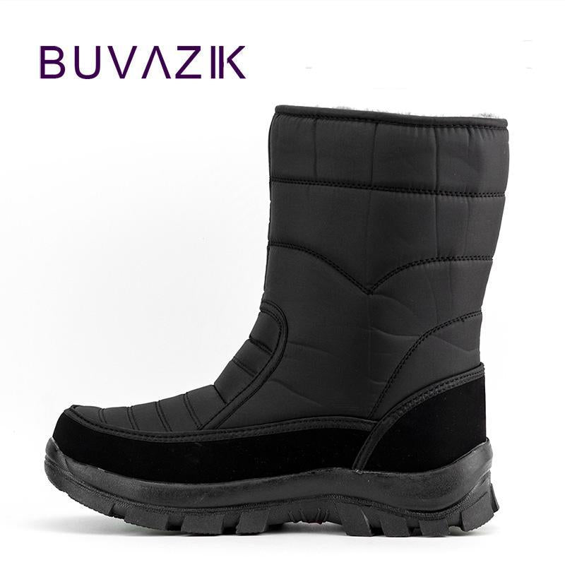 Men Waterproof Hunting Boots Thickening Thermal Snow Boots Warm Fur Shoes-Boots-Bargain Bait Box-Black A-7-Bargain Bait Box