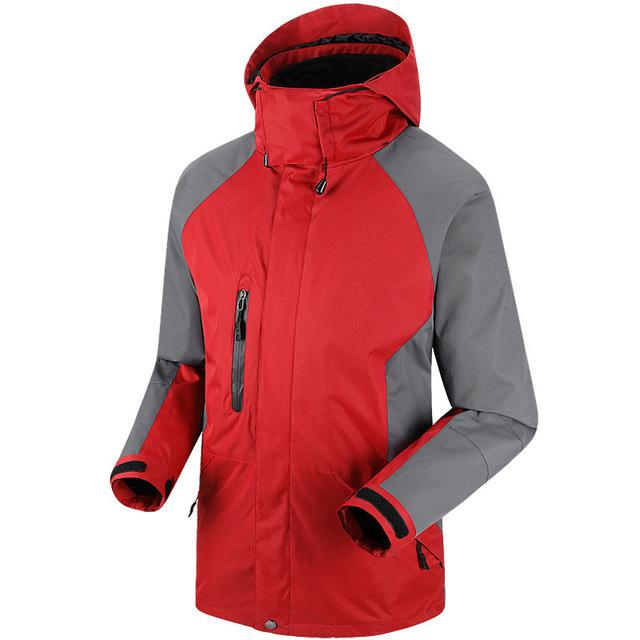 Men Waterproof Windproof Jackets Sportswear Softshell Jacket Fishing Skiing-Jackets-Bargain Bait Box-Chinese red-S-Bargain Bait Box