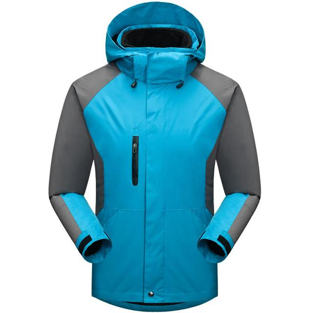 Men Waterproof Windproof Jackets Sportswear Softshell Jacket Fishing Skiing-Jackets-Bargain Bait Box-light lake blue-S-Bargain Bait Box