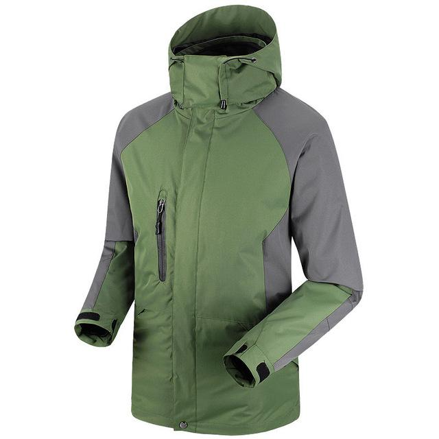 Men Waterproof Windproof Jackets Sportswear Softshell Jacket Fishing Skiing-Jackets-Bargain Bait Box-military green-S-Bargain Bait Box